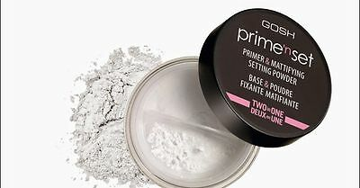 GOSH Prime'N Set Primer & Mattifying Setting Powder 2 in 1 Reducing Shine 7g