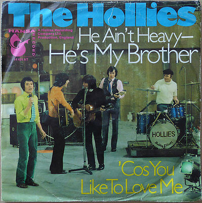 "7"" The Hollies - He Ain't Heavy - He's My Brother (1) DE 1969 - VG to VG+"