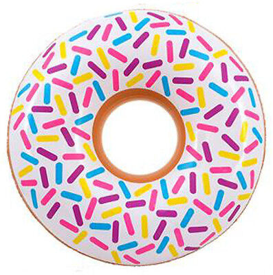 Over 2.5Ft Inflatable White Donut Doughnut- Blow Up Food Pool Toy Kids Fun Gift