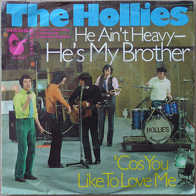 "7"" The Hollies - He Ain't Heavy - He's My Brother (2) DE 1969 - VG+(+)"