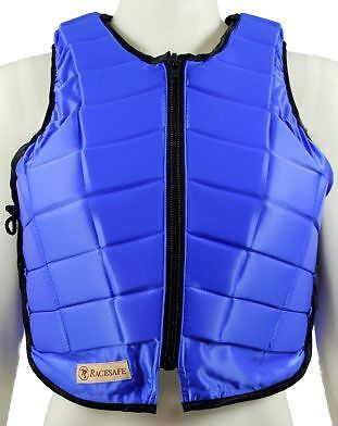 New Racesafe Body Protector, Childs Large Standard Back Blue