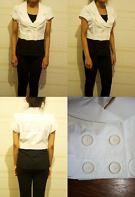 Topshop White Jane Austen Regency Style Crop Jacket