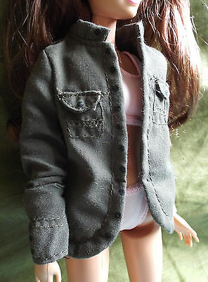 Barbie Doll Dark Green Jacket with Breast Pockets - NO DOLL