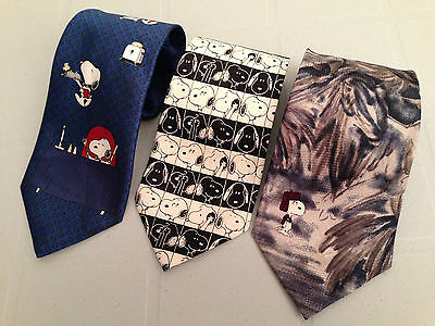 Vintage Collection Snoopy Novelty Neckties United Feature Syndicate Inc 1958