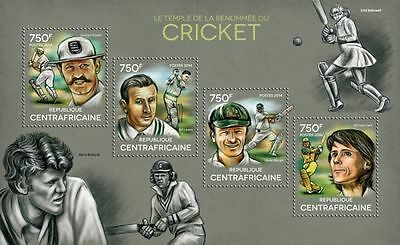 Central Africa 2014 Great Cricket Players of History S/S CA14320 s