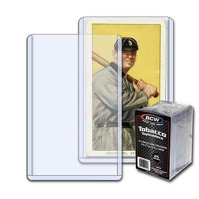 12 BCW Tobacco Card Topload Holder (25/pack) & 3 Tobacco Sleeves pack (100/pack)