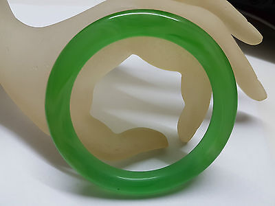 169.5Ct~Gorgeous~Natural Translucent Green Pure Chinese Jade Bangle 59Mm
