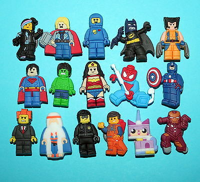 Lego Movie Shoe Decorations 16 Cupcake Toppers Piñata Party Favors Cake NEW
