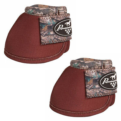 Professionals Choice Ballistic Overreach Bell Boots - Camo Chocolate - Medium