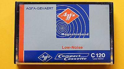 1x AGFA-GEVAERT Low  Noise C 120 1970 Cassette Tape + NEW + NEU +