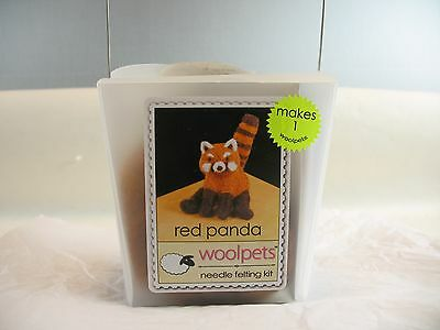 Woolpets needle felting kit Red Panda complete in container
