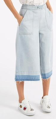 Sea New York NWT Blue Washed Out Denim Culottes Size 6 $162 $345
