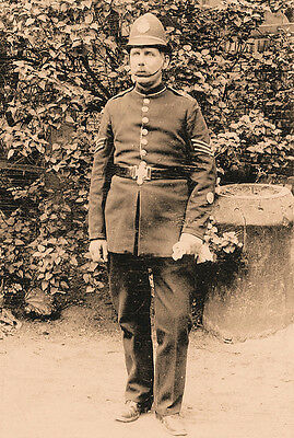 Phot Taken From A Victorian Image Of Sergeant `895 In The Hampshire Police