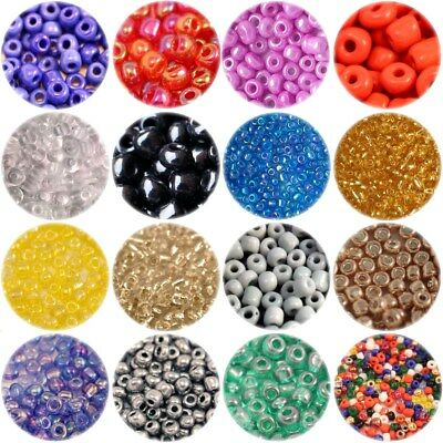 Size 6/0 (approx 4mm) GLASS SEED BEADS - CHOICE OF COLOURS