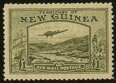 New Guinea - SG 225 - 1939 - Airmail - £1. olive-green - Unmounted Mint/MNH