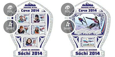 Z08 GB16909ab GUINEA-BISSAU 2016 Sochi Winter Games 2014 MNH ** Postfrisch Set