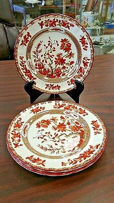 "Copeland Spode India Tree 7 5/8"" Salad Plate Set Of Four"