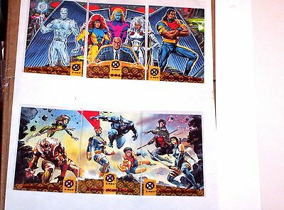 1994 Fleer Ultra X-Men RED FOIL BLUE GOLD TEAM TRIPTYCH INSERT chase 6 CARD Set!