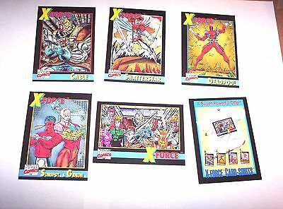 1991 X-Force Promo Insert Comic 6 Card Set! X-Men Marvel Deadpool! Domino! Cable