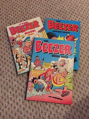 Beezer Book 1989, 1991 & 1994 Annuals - All Unclipped - Very Good Condition