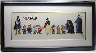 Disney Sericel Art Snow White -  Cast Of Characters - Framed!
