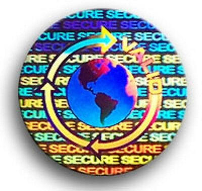 100 - 5000 Hologram Labels Security Sticker Seals - Product Protection 5 Choices
