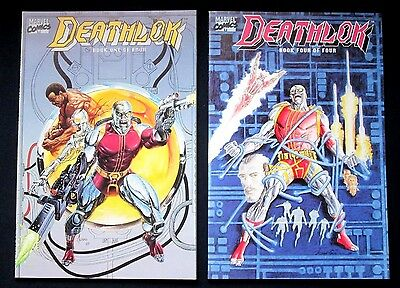 Marvel Comics Deathlok Books 2 & 4 Vol. 1 July 1990 Nm High Grade Limited Series