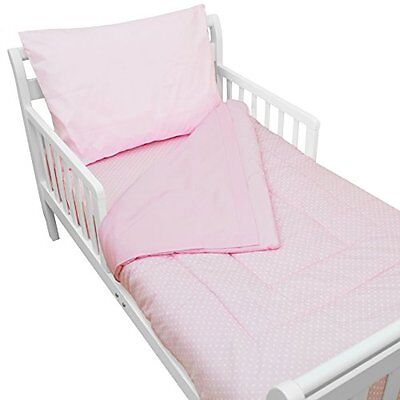 American Baby Company 100% Cotton Percale 4-piece Toddler Bed Set, Pink...NEW