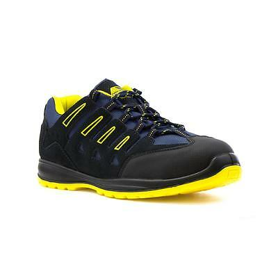Earth Works Safety - Earthworks Mens Navy Lace Up Safety Shoe