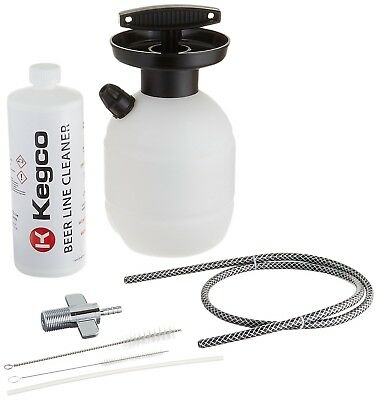 Kegco BF KPCK32 Deluxe Hand Pump Pressurized Keg Beer Cleaning Kit with 32...NEW