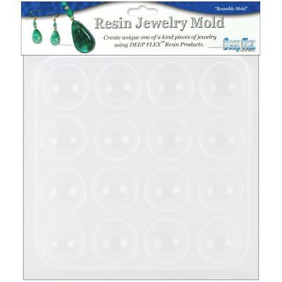 """Yaley - Resin Jewelry Mould 6.5""""X7"""" - Cabachons (16 Cavity) Made in USA"""