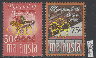 XG-AL095 MALAYSIA - Olympic Games, 1968 Mexico City, 2 Values MNH Set