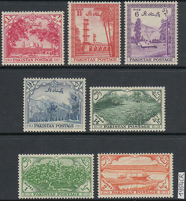 XG-AL280 PAKISTAN - Definitives, 1954 Architecture, Landscapes, Ships MNH Set