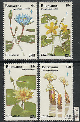 XG-AL170 BOTSWANA - Flowers, 1981 Flora, Nature, Christmas MNH Set