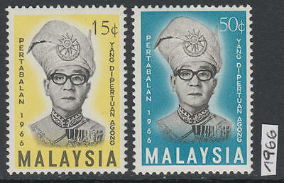 XG-AL091 MALAYSIA - Set, 1966 Sultan Installation, 2 Values MNH