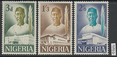 XG-AL265 NIGERIA IND - Set, 1964 Republic Day, 3 Values MNH