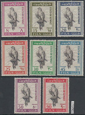 XG-AL306 KUWAIT IND - Birds, 1965 Of Prey, Eagles, 8 Values MNH Set