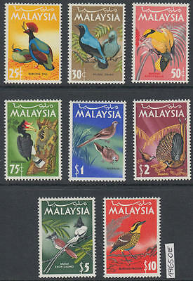 XG-AL307 MALAYSIA - Birds, 1965 Fauna, Nature, 8 Values MNH Set