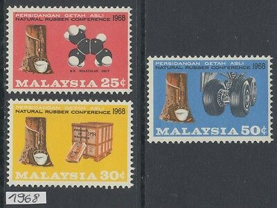 XG-AL148 MALAYSIA - Set, 1968 Natural Rubber Conference MNH