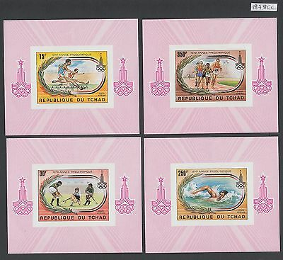 XG-AL910 CHAD IND - Olympic Games, 1978 4 Imperf. Deluxe Sheets MNH