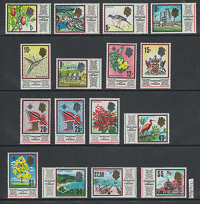 XG-AL811 TRINIDAD & TOBAGO IND - Definitives, 1969 Birds, Flowers, Trees MNH Set