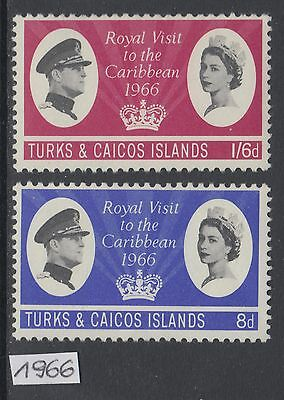 XG-AL801 TURKS & CAICOS IND - Royal Visit, 1966 To The Caribbean MNH Set