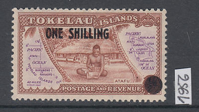 XG-AL865 TOKELAU ISLANDS - Maps, 1956 One Shilling, Overprinted MNH Set