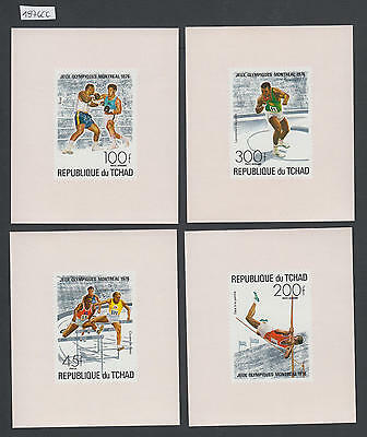 XG-AL911 CHAD IND - Olympic Games, 1976 Montreal, 4 Deluxe Proof Sheets MNH