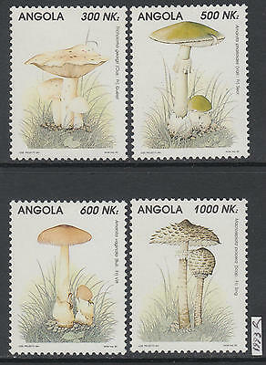XG-AL382 ANGOLA IND - Mushrooms, 1993 Nature, 4 Values MNH Set