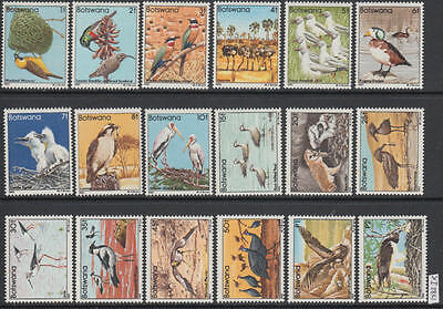 XG-AL420 BOTSWANA - Birds, 1982 Nature, Fauna, 18 Values MNH Set