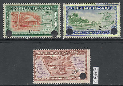 XG-AL872 TOKELAU ISLANDS - Definitives, 1967 3 Values Overprinted MNH Set