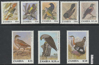 XG-AL440 ZAMBIA - Birds, 1990 Nature, Fauna, 8 Values MNH Set