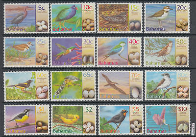 XG-AL406 BAHAMAS IND - Birds, 2001 Nests, Eggs, Nature, Fauna MNH Set