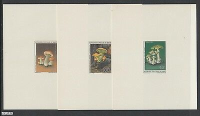 XG-AL500 BENIN - Mushrooms, 1985 Nature, 3 Deluxe Proofs MNH